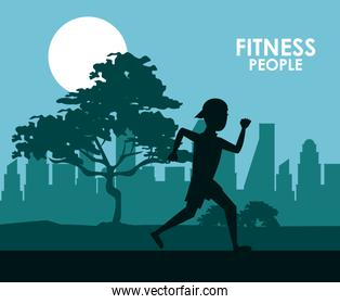 Fitness people running