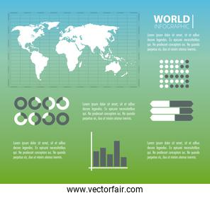 World infographic concept