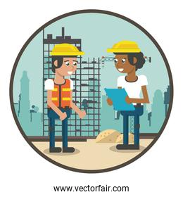 Construction workers cartoons
