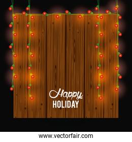 happy holiday card and decoration