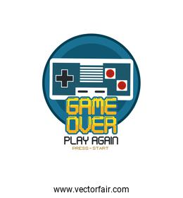 Videogame pixelated concept
