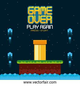 videogame game over concept