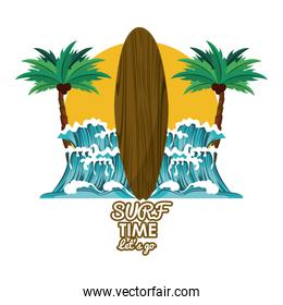 Surf time card