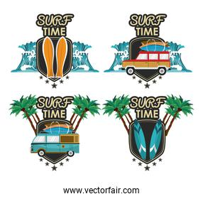 surf time cartoon  bundle