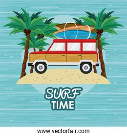 surf time cartoon