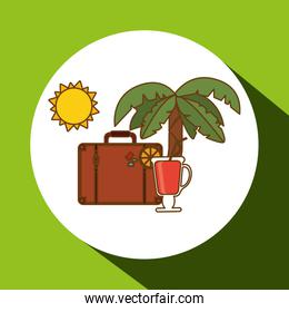 Vacations icon design, vector illustration