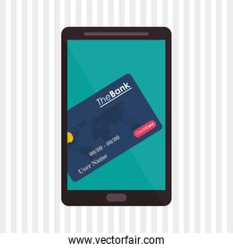 Payment with smartphone icon design, vector illustration