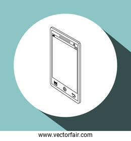 Icon of isometric smartphone design, vector illustration