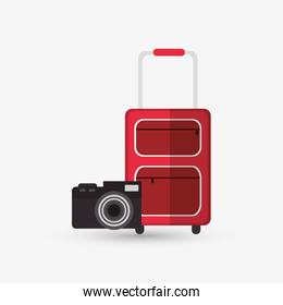 Icon of vacations design, vector illustration