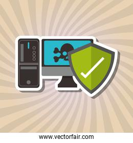 Graphic design of Security System, vector illustration