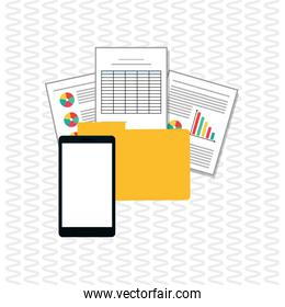 Illustration of responsive web and infographic, editable vector