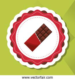 colorful chocolate design, vector illustration, sweet and delicious