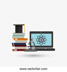 Colorful science design over white background