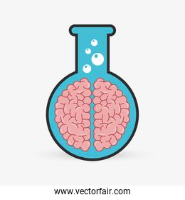 laboratory flask  over white background