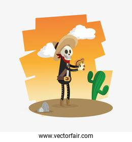 Colorful mexican design over white background