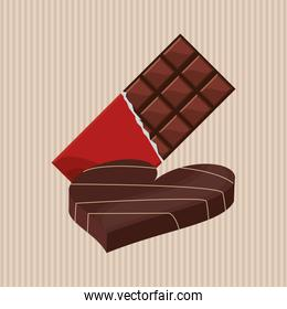 Flat illustration about chocolate design , sweet and delicious