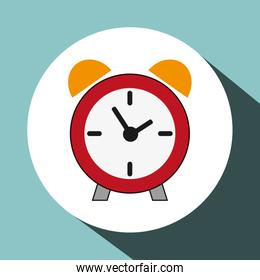 Clock design, flat illustration