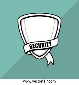 Security system. shield concept. warning illustration