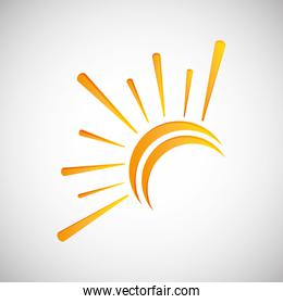 Sun design. abstract icon. summer concept