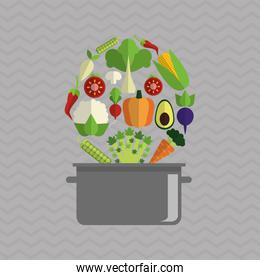 Organic food design. healthy food. menu concept, vector illustration
