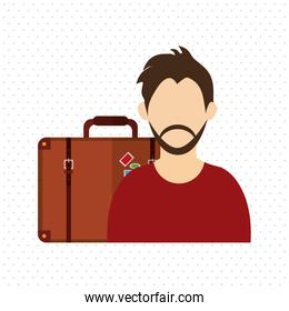 Travel design. Vacation concept. Colorful illustration