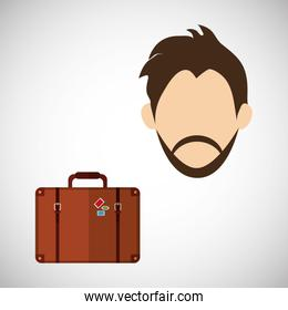 Travel design. Vacation concept. Colorful illustration , vector
