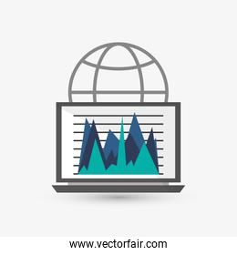 Infographic design. Business icon. Isolated illustration