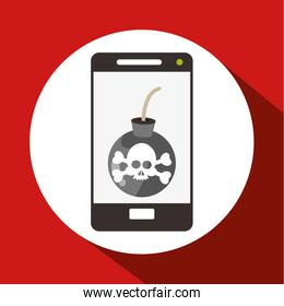 Smartphone design. Technology icon. Isolated illustration , vector