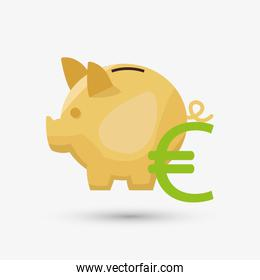Money design. Financial item icon. White background, isolated il