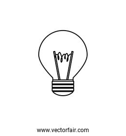 light bulb , Vector illustration over white background
