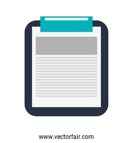 clipboard with paper , Vector illustration over white background