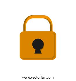 closed safety lock , Vector illustration over white background