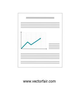 paper with graph , Vector illustration
