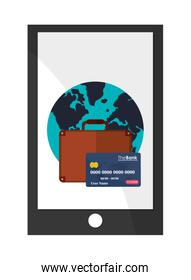tablet payments , Vector illustration