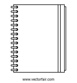notebook linear style Vector illustration