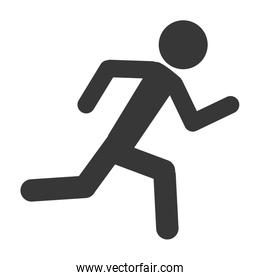 person running silhouette