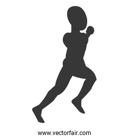 silhouette of person running