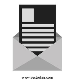 envelope with paper document
