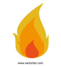 orange and yellow fire icon