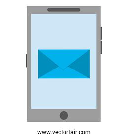 cellphone with envelope icon