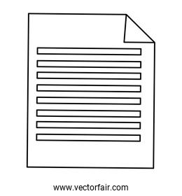sheet of paper with lines