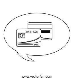 credit card with letters