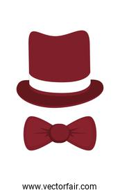 classic hat with bowtie