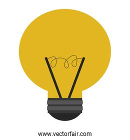yellow lightbulb , vector illustration