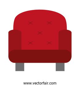 red one seat sofa , vector illustration