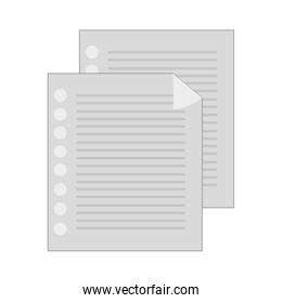 lined paper document , vector illustration