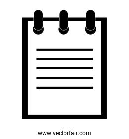 notebook wire on top , vector illustration