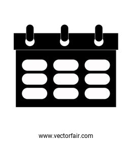 simple wired calendar , vector illustration