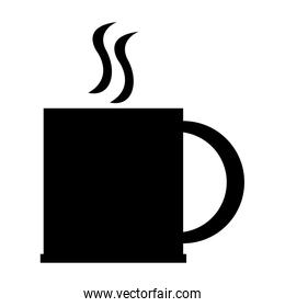 hot cup silhouette , vector illustration