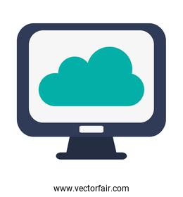 computer monitor and cloud